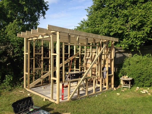 Garden Studio timber frame