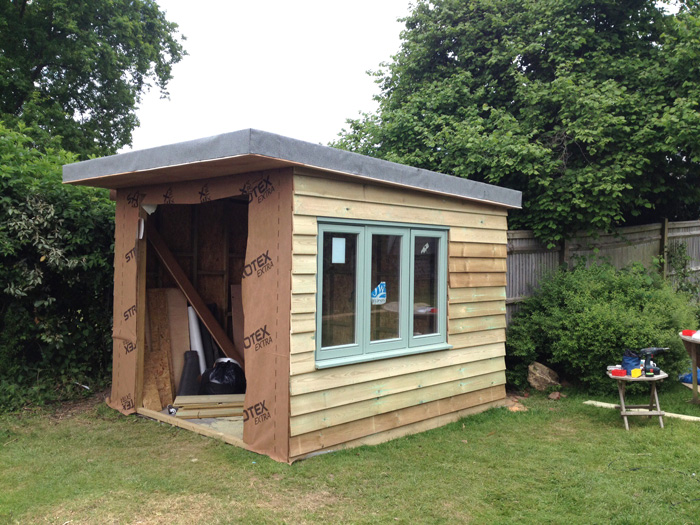 Garden Studio lining and cladding