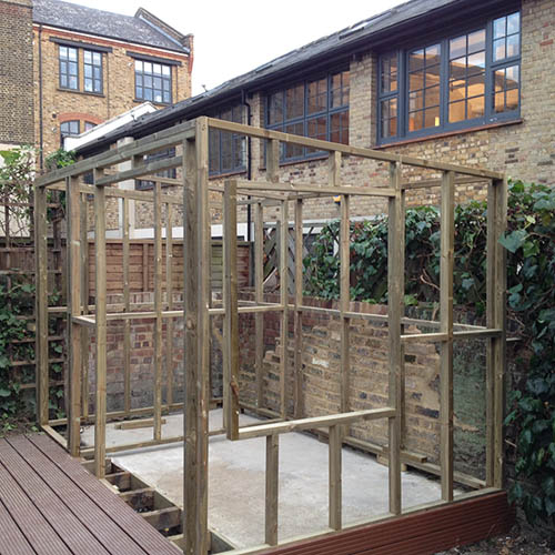 Garden Studio in London: initial frame